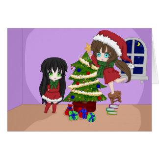 Cartes de Noël d'Anime