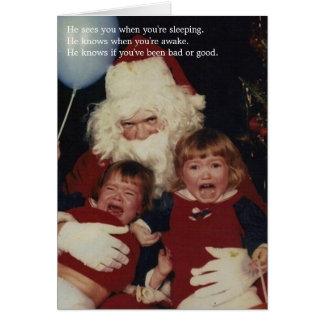 Cartes de Noël déplaisantes de Père Noël