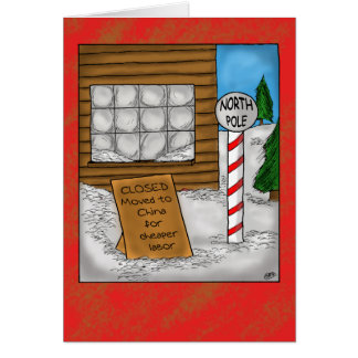 Cartes de Noël drôles : Déplacement de Pôle Nord