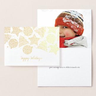 Cartes de Noël gravées à l'eau-forte de photo de