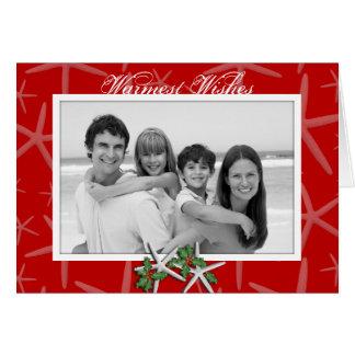 Cartes de Noël tropicales de photo des souhaits