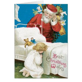 Cartes de Noël vintages authentiques - Père Noël