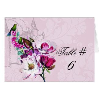 Carte Cartes de nombre customisées par magnolia de