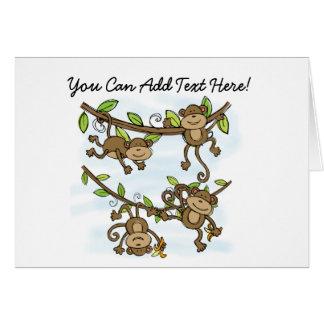 Cartes de note customisées d'éclat de singe