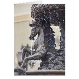 Cartes de note de fontaine d'eau de cheval