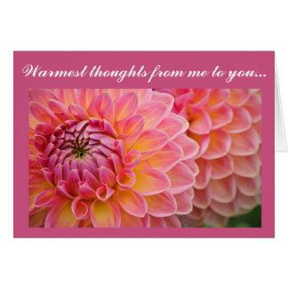 Cartes de note de série de fleur