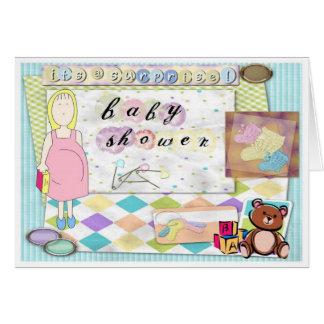 Cartes de note de surprise de baby shower