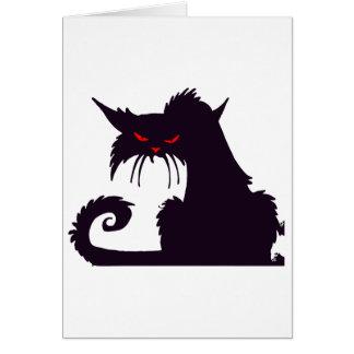 Cartes de note grincheuses de chat noir
