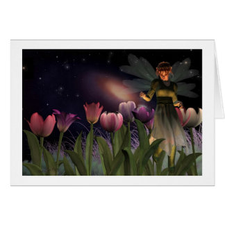 Cartes de note magiques de nuit féerique