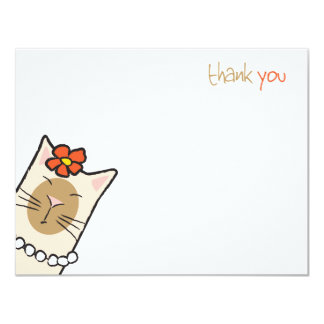 Cartes de note plates siamoises de Merci de