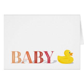Cartes de note sophistiquées de Merci de bébé de