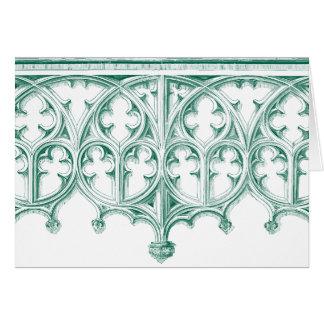 Cartes de note turquoises de cathédrale
