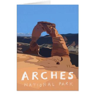 Cartes de parc national de voûtes - voûte sensible