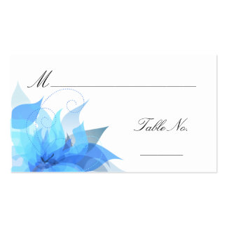 Cartes de place d'invité d'escorte de mariage carte de visite standard