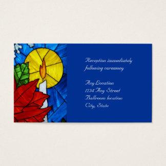 Cartes de réception de mariage de bougie en verre