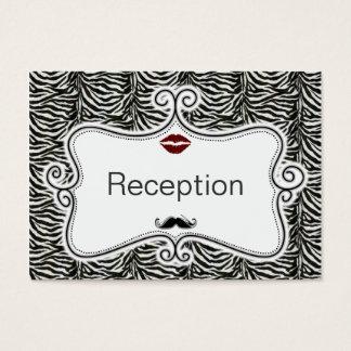 cartes de réception de rayures de zèbre de baiser