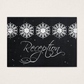 cartes de réception d'hiver de tableau de flocons