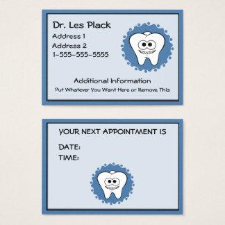 Cartes de rendez-vous de dentiste