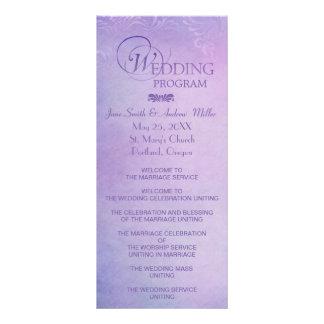 Cartes de support de programme de mariage - double carte en  couleur