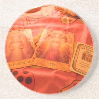 Cartes de tarot d'ange dessous de verre en grès