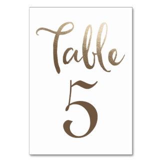 Cartes de typographie de nombre de Tableau de