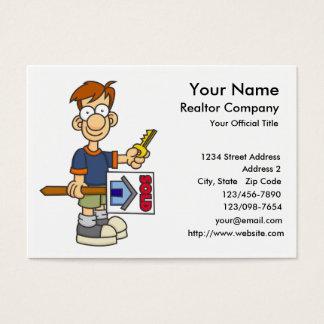 Cartes de visite 1 d'agent immobilier