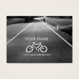 Cartes de visite 2 de signe de bicyclette