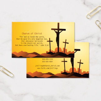 Cartes De Visite 3h16 de John - croix religieuse