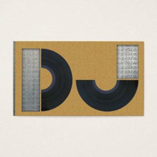 Cartes De Visite A cool carboard le DJ business card