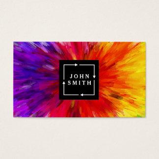 Cartes De Visite Abrégé sur multicolore moderne cool d'aquarelles