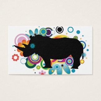 Cartes de visite abstraits de rhinocéros