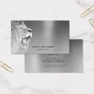 Cartes De Visite Acier métallique argenté de consultation