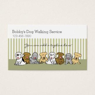 Cartes De Visite Affaires d'animal familier de marcheur de chien