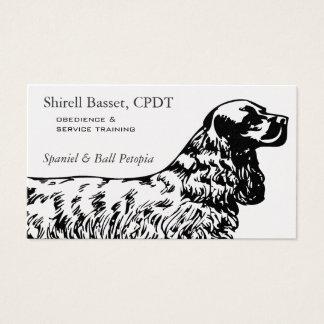 Cartes De Visite Affaires de chien de cocker