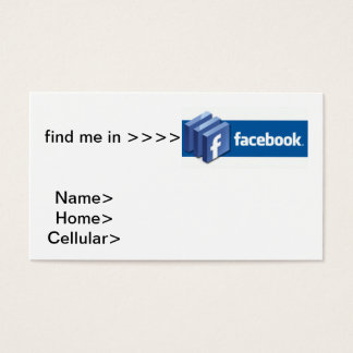 Cartes De Visite affaires de facebook