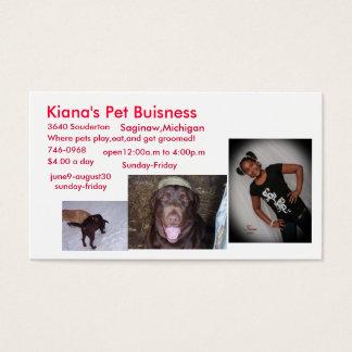 Cartes De Visite Affaires de l'animal familier de Kiana