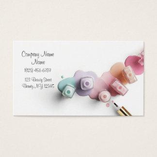 Cartes De Visite Affaires de salon de beauté de clou