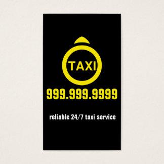 Cartes De Visite Affaires de transport de conducteur de taxi de