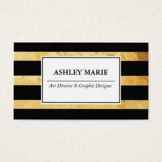 Cartes De Visite Affaires d'or