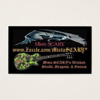 Cartes De Visite Affaires faites sur commande de logo de guitare de