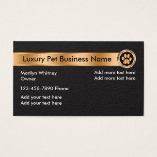 Cartes De Visite Affaires ou service chiques d'animal familier