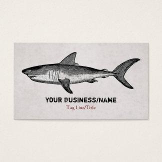 Cartes De Visite Affaires vintages de requin ou télécarte