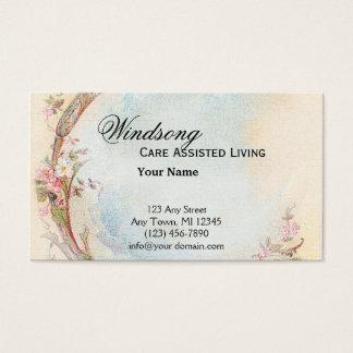 Cartes De Visite Affaires vintages de rose de rose et de mariage de