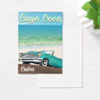 Cartes De Visite Affiche cubaine de vacances de Cocos de Cayo