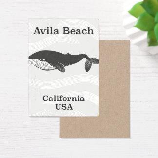 Cartes De Visite Affiche de voyage de la Californie de plage