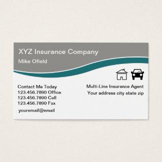 Cartes De Visite Agent d'assurance multiligne