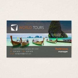 Cartes De Visite Agent de voyage exotique frais