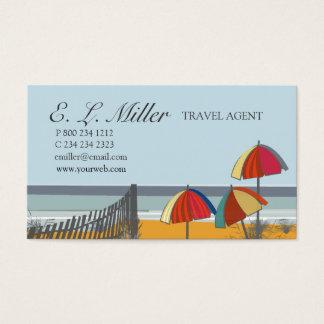 Cartes De Visite Agent de voyage nautique à la mode de plage