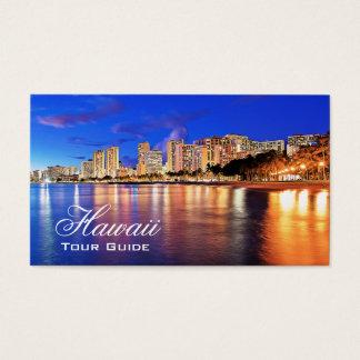 Cartes De Visite Agent de voyage - palmier de plage d'Hawaï Waikiki