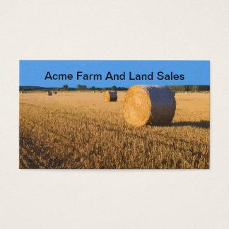 Cartes De Visite Agent immobilier de ventes de ferme et de terre